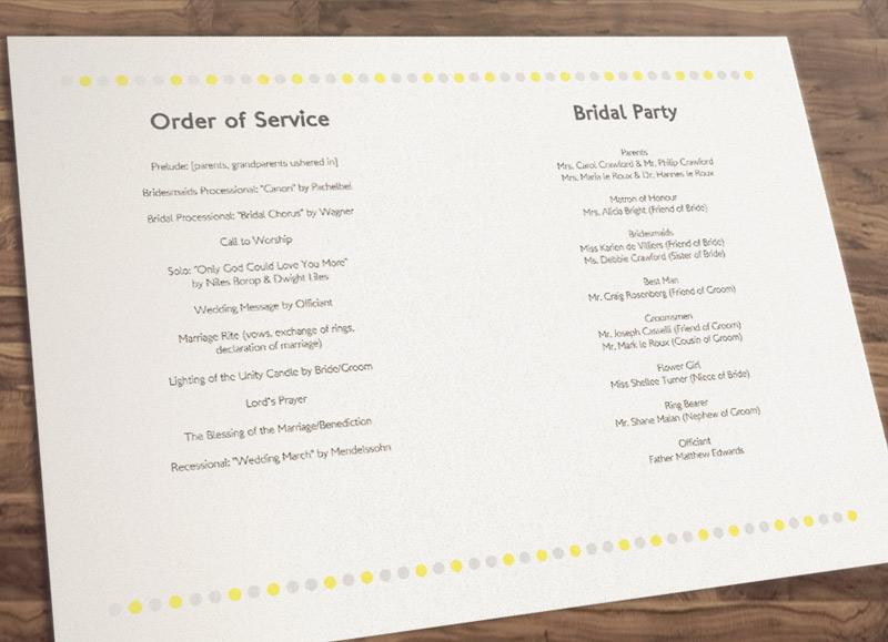 Free Printable Wedding Programs DIY