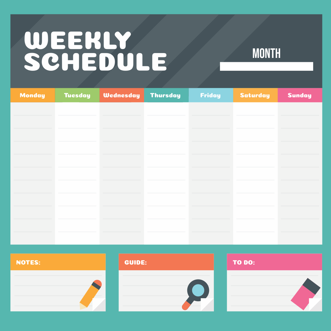 Printable Weekly Calendar Templates 2015