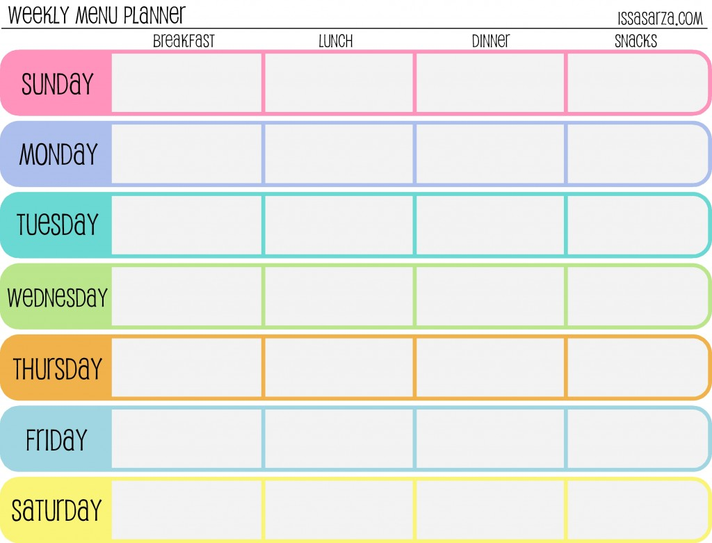 Weekly printable images gallery category page 4 for Week by week planner template