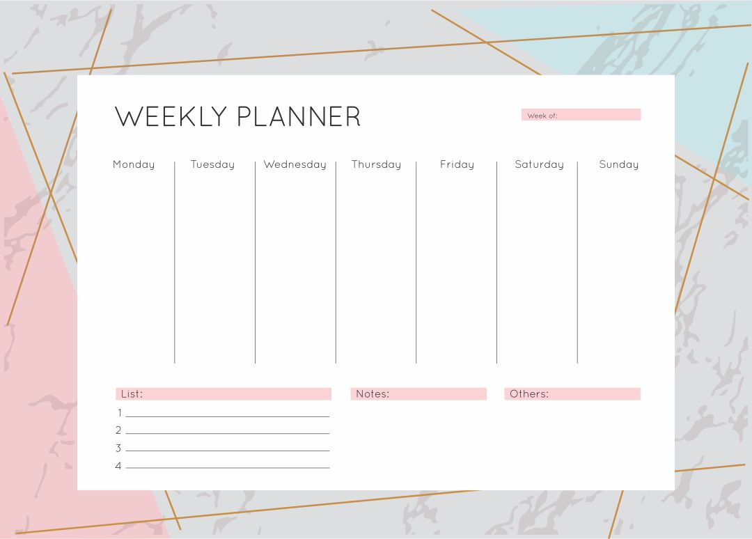 Weekly Calendar Organizer Printable : Best images of weekly calendar printable