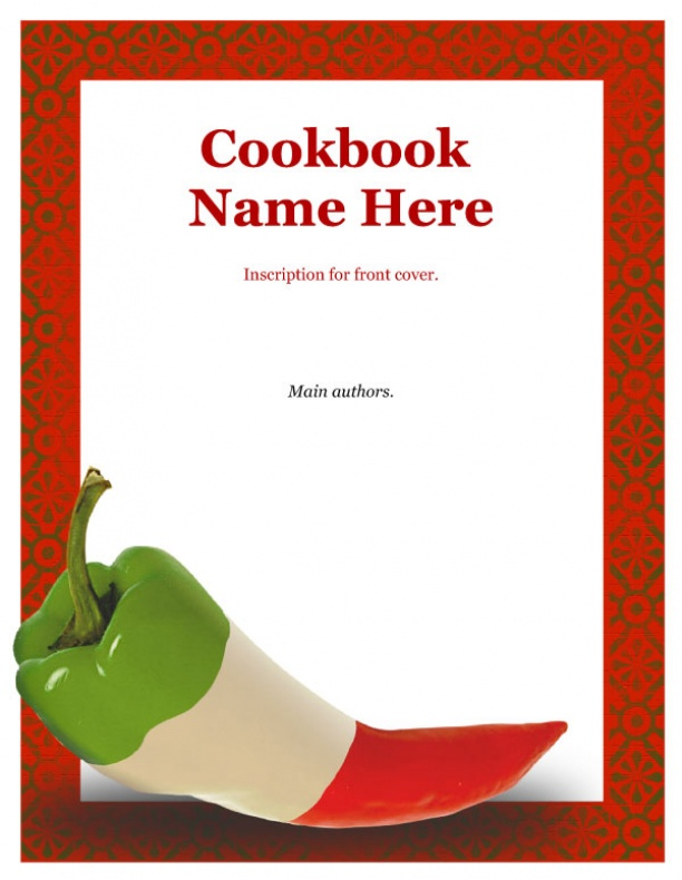 Printable Cookbook Cover : Best images of free printable recipe book cover template