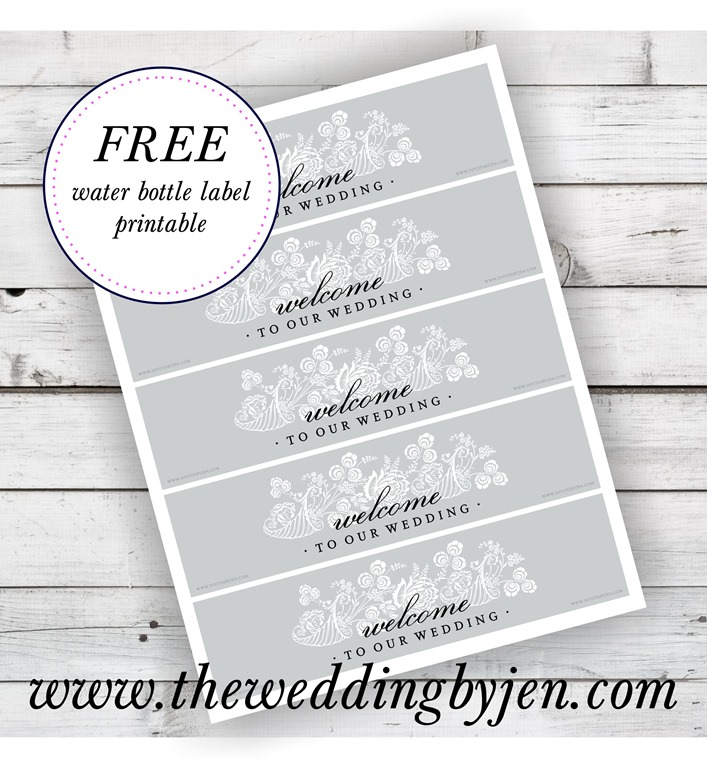 9 Images of Free Printable Wedding Water Bottle Templates