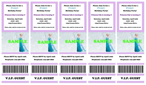 8 Images of Disney Frozen Printables Tickets