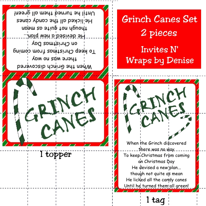 of Candy Cane Poem Printable Tag - Grinch Candy Cane Poem Printable ...