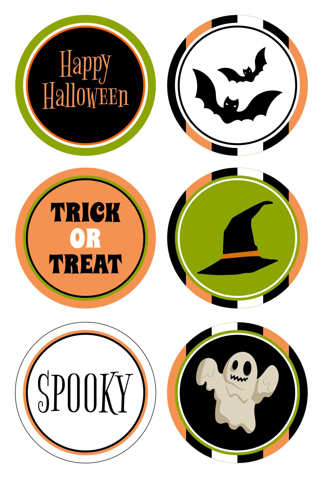 Halloween Circle Tags Printable Free