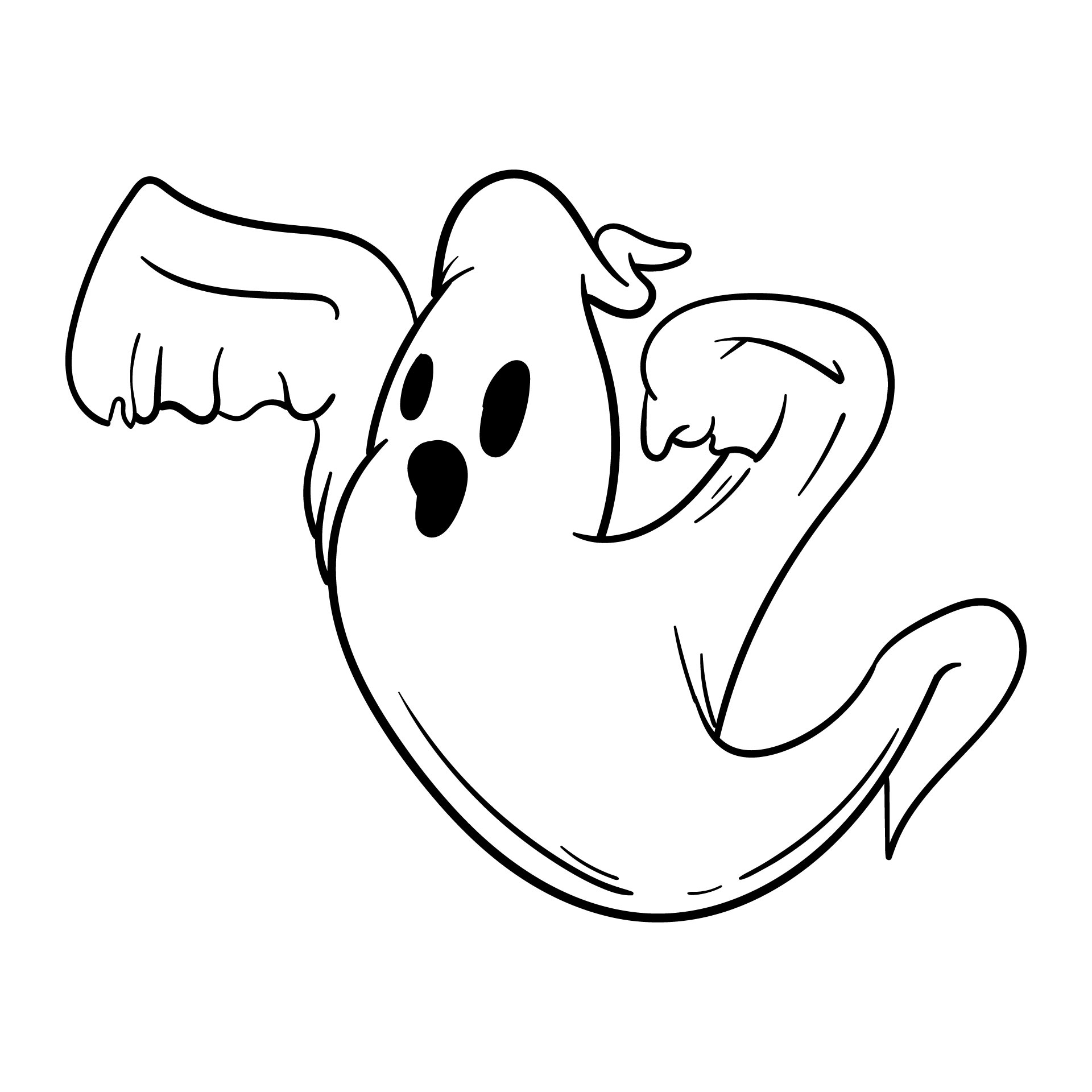 Halloween Ghost Cut Outs Printable