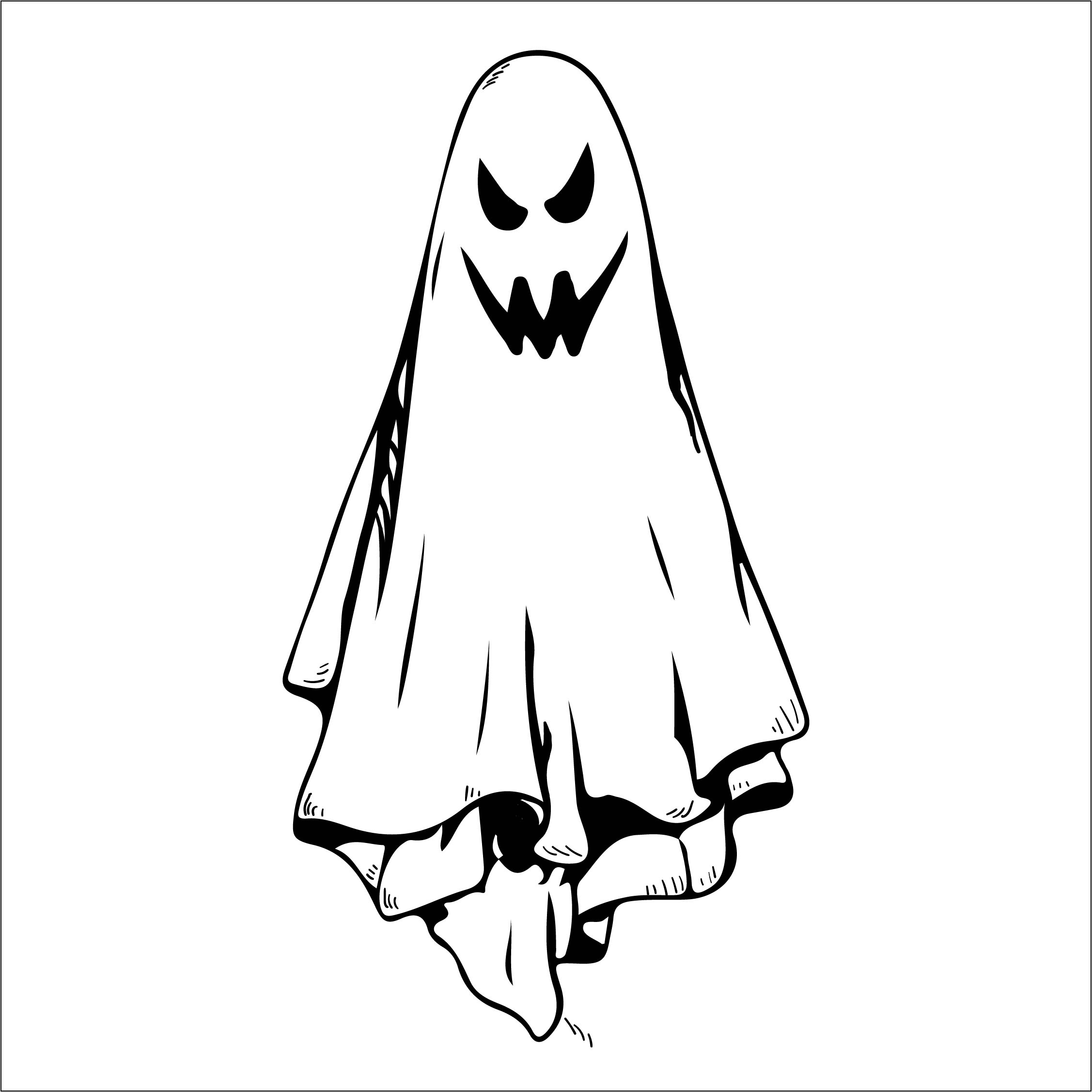 Halloween Ghost Stencils Printable