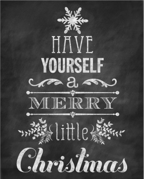 6 Images of Holiday Chalkboard Printables