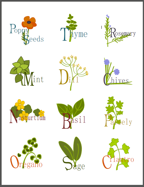 4 Images of Herb Garden Labels Printable Free