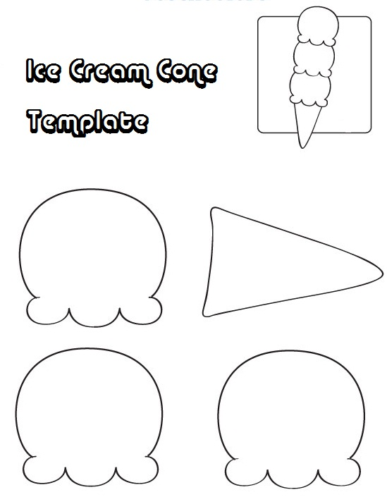 7 Images of Ice Cones Free Printable Templates