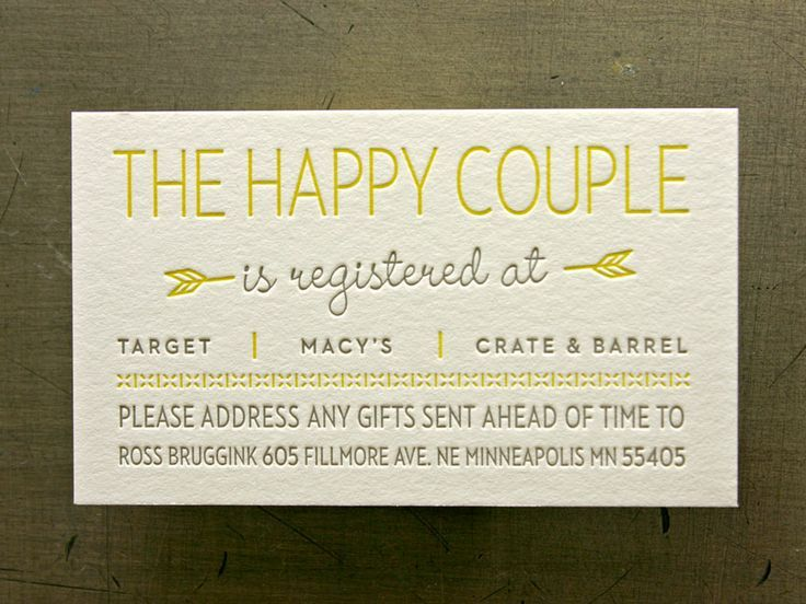 Wedding Gift Card Target : Target Wedding Registry Card Inserts Invitations For Wedding Gift .