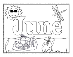 6 Images of June Coloring Printables