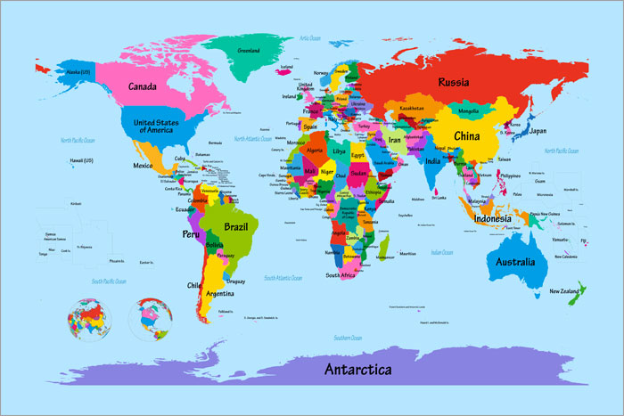 6 Images of Large Printable World Map Print