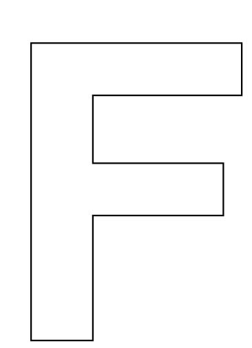 5 Images of Large Printable Letter F
