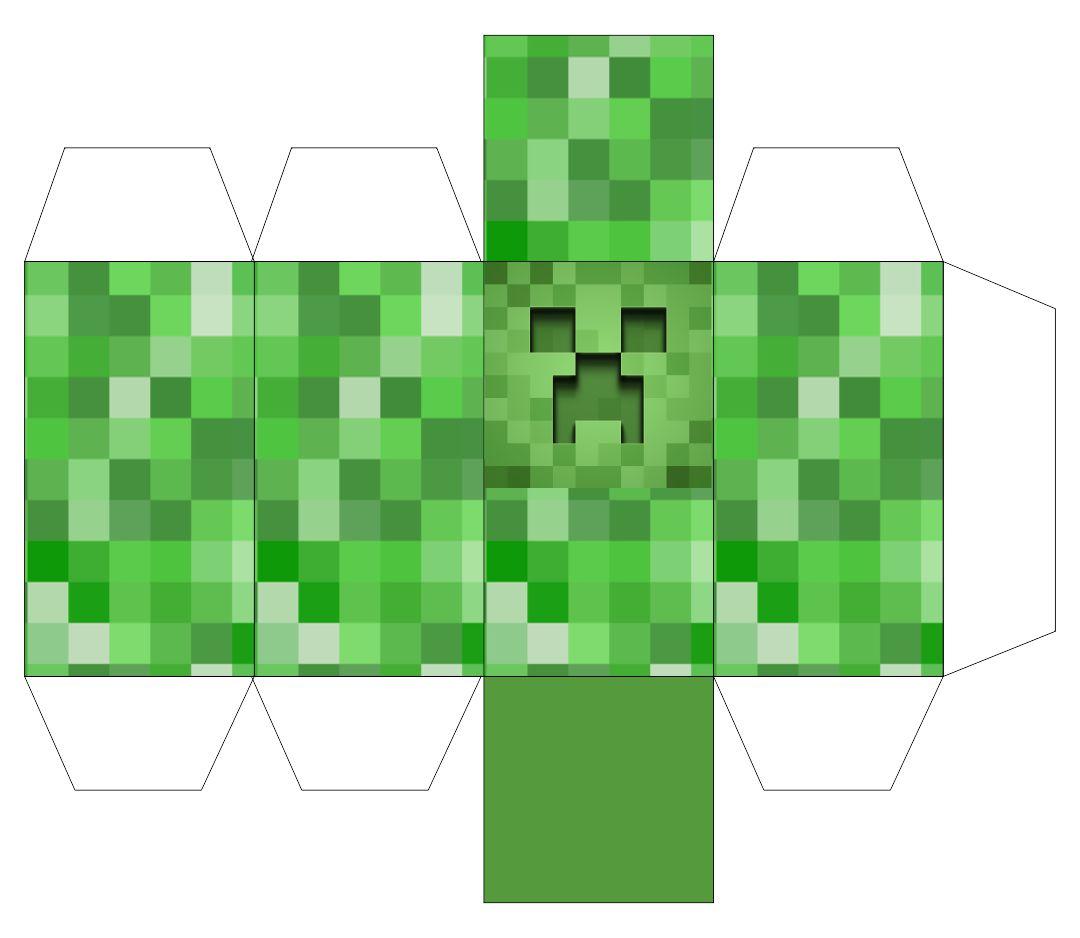 Minecraft Papercraft Creeper Template