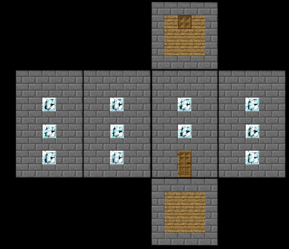 Minecraft Papercraft House Blocks