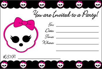Monster High Printable Invitations Free
