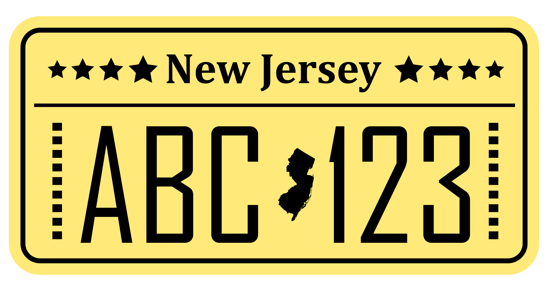 6 best images of printable temporary tags texas temporary license plate nj temporary license. Black Bedroom Furniture Sets. Home Design Ideas