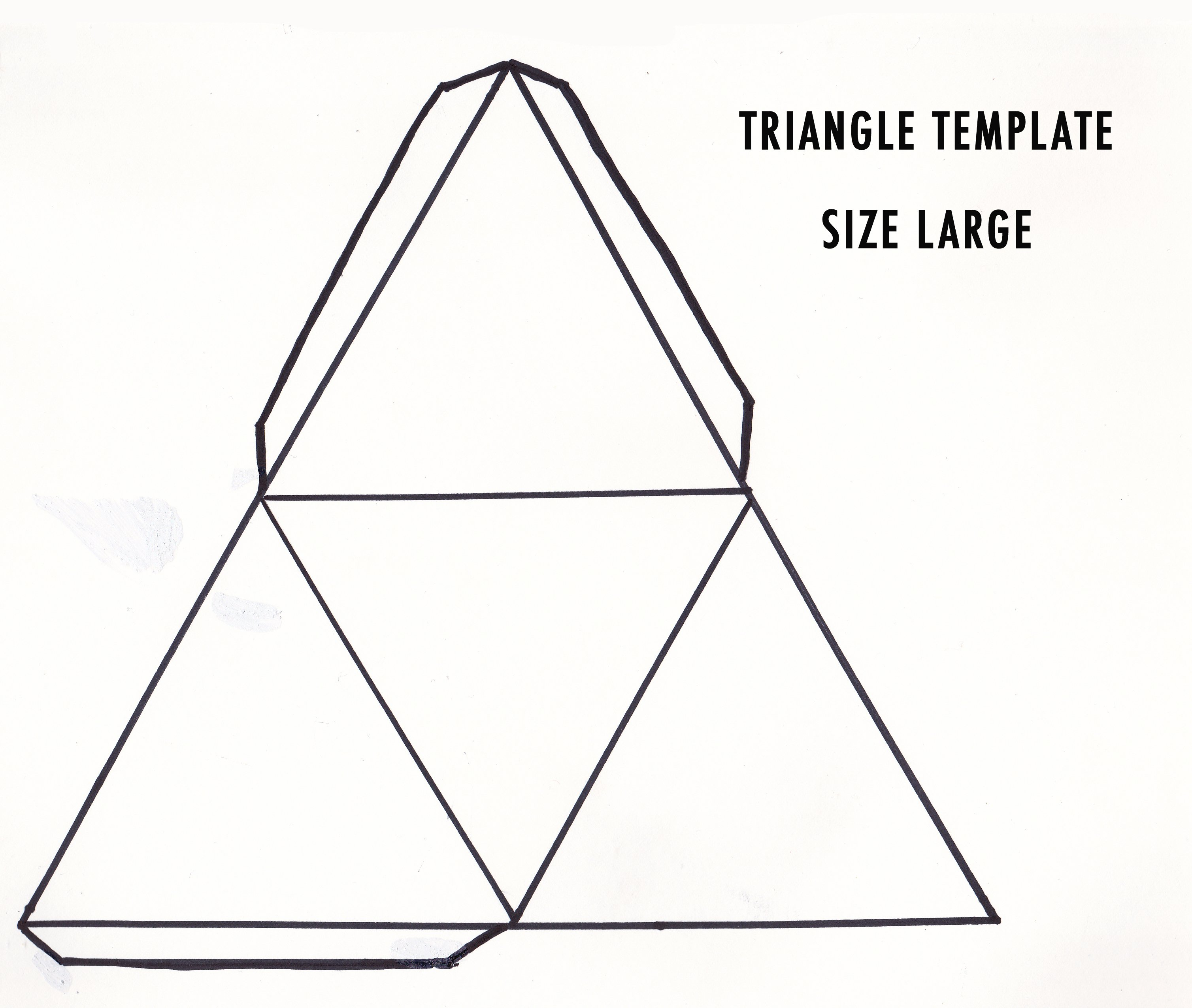 5 Images of Triangle Template Printable