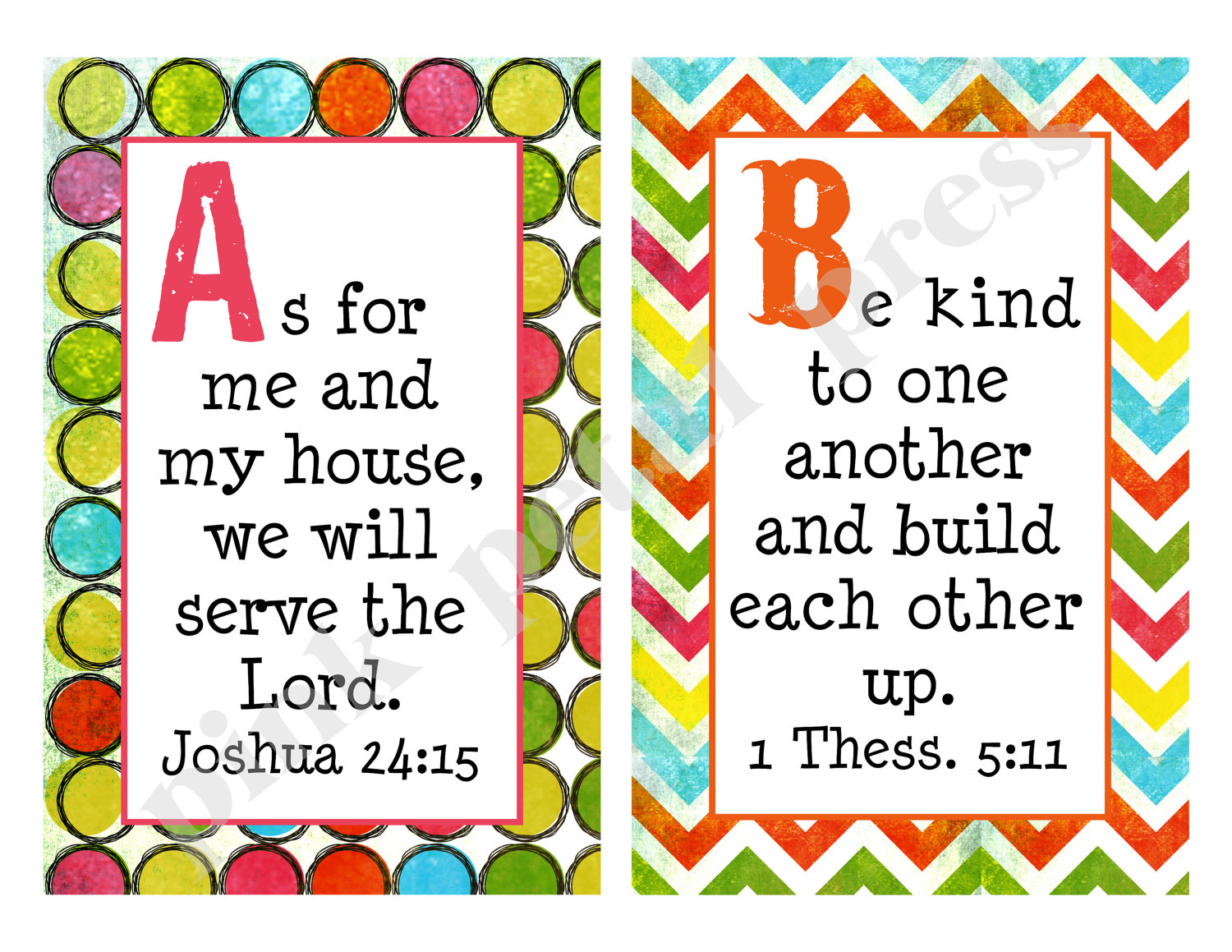 6 Images of Bible Verse Alphabet Cards Printable