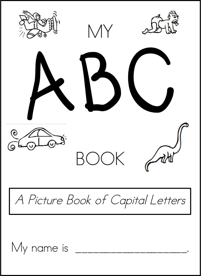 5 Images of Printable Alphabet Book Cover