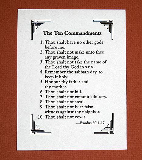 5 Images of Printable Bible Ten Commandments