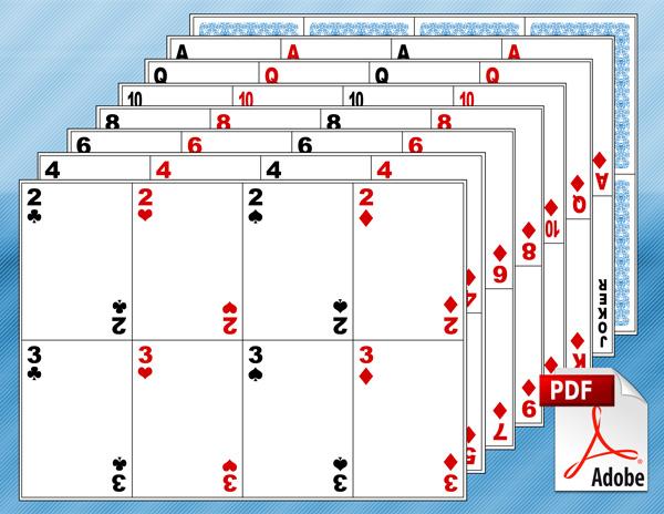Printable Blank Playing Cards - Blank Playing Card Template, Printable ...