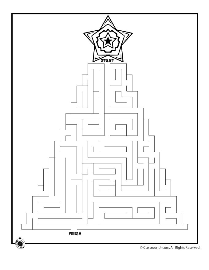 christmas coloring pages and mazes - photo#20