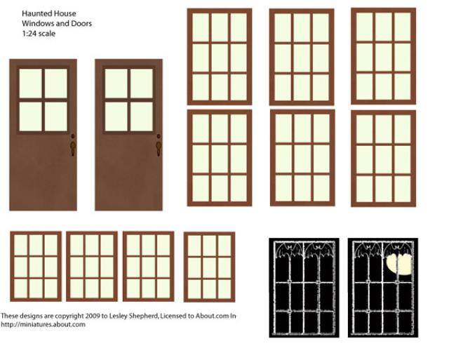 8 Images of Printable Dollhouse Doors