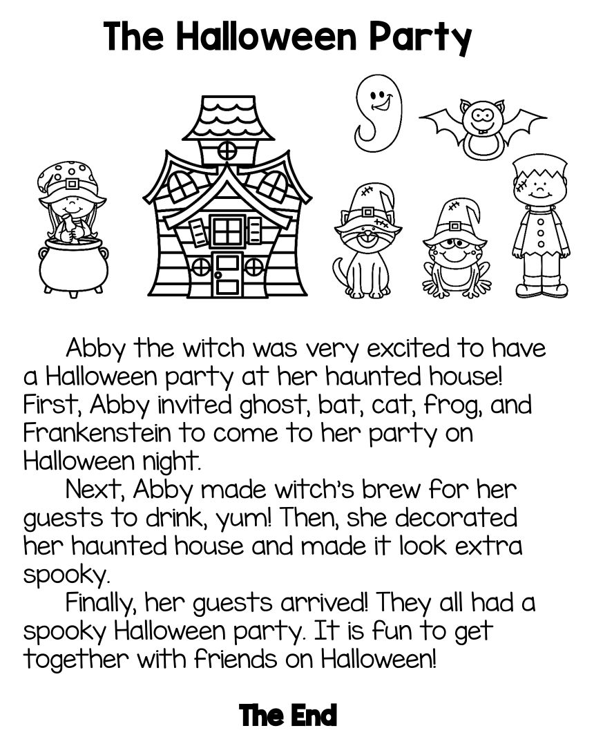 5 Images of Free Printable Halloween Stories