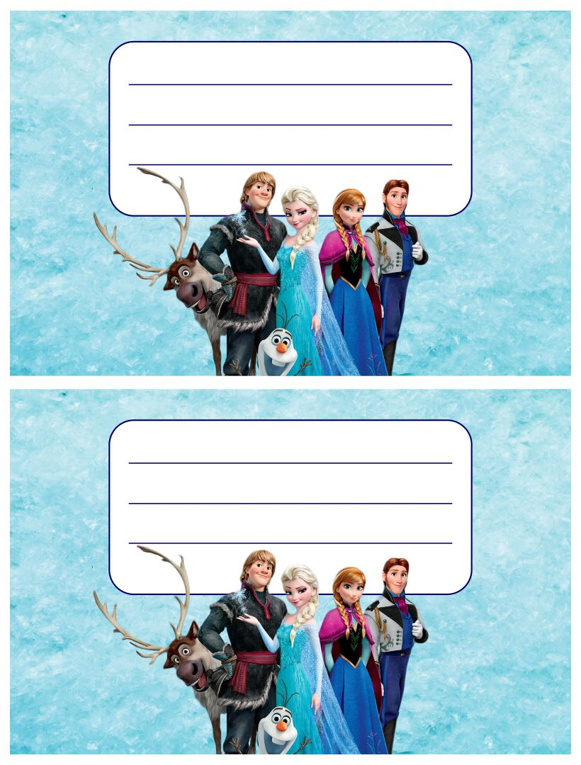 7 Images of Disney Frozen Printable Birthday Cards