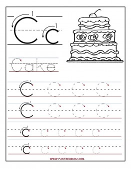 5 Images of Printable Alphabet Tracing Worksheets Preschool Letter C