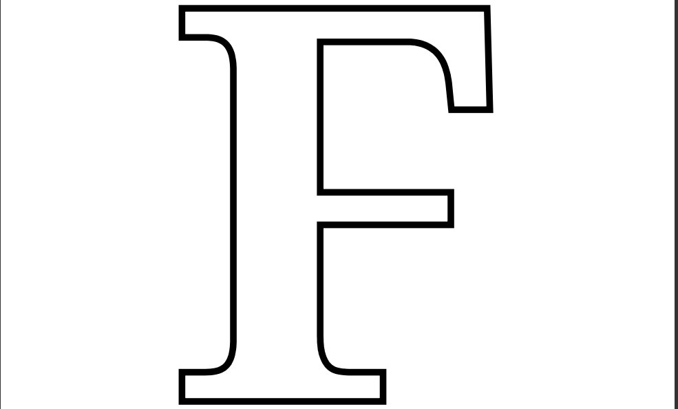 letter f template printable  13 Best Images of Large Printable Letter F Large Letter F ...