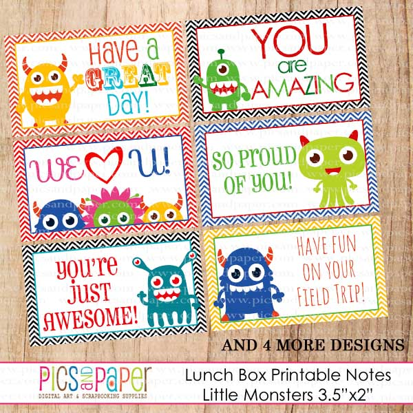 7 Images of Little Lunch Notes Printable For Boys
