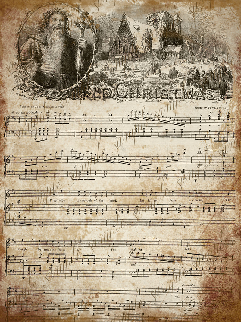 Printable Vintage Christmas Sheet Music