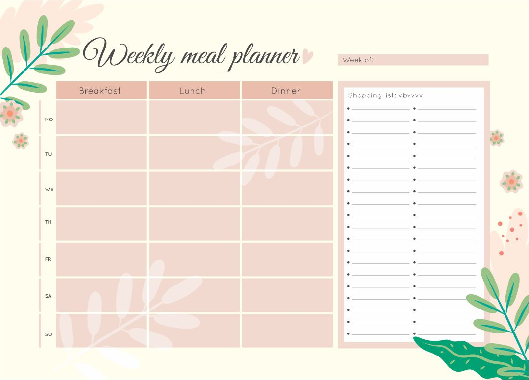Best Images of Weekly Calendar Printable - Printable Weekly Planner ...