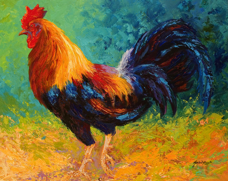 Rooster Paintings Large