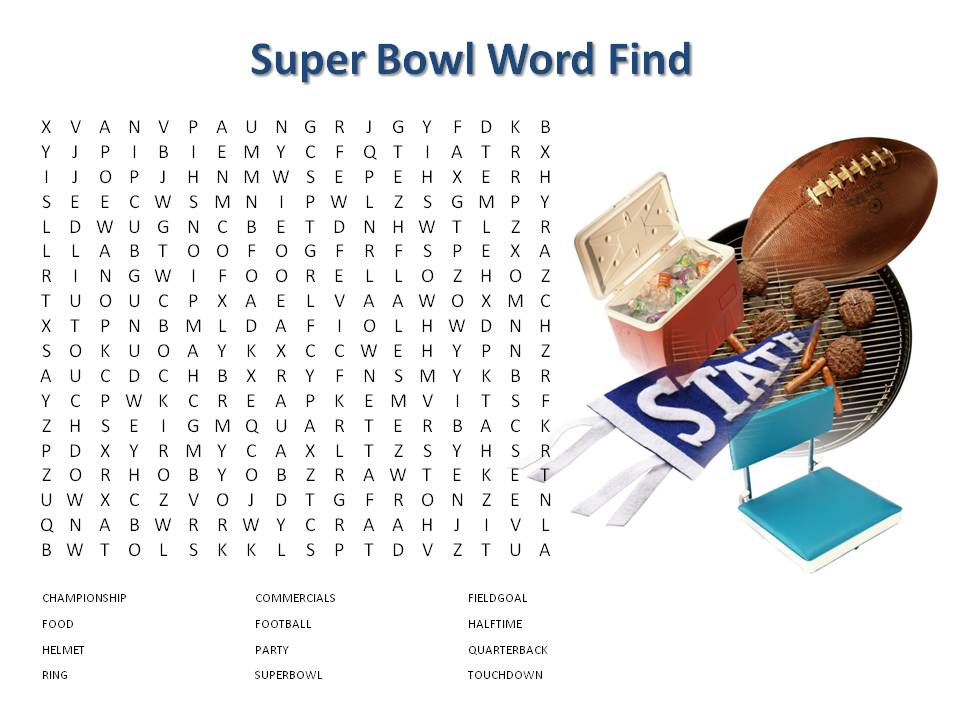 5 Images of Super Bowl 2016 Word Search Printable