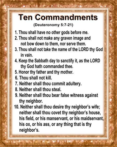 - Printable Bible Ten Commandments Crafts, Ten Commandments List ...