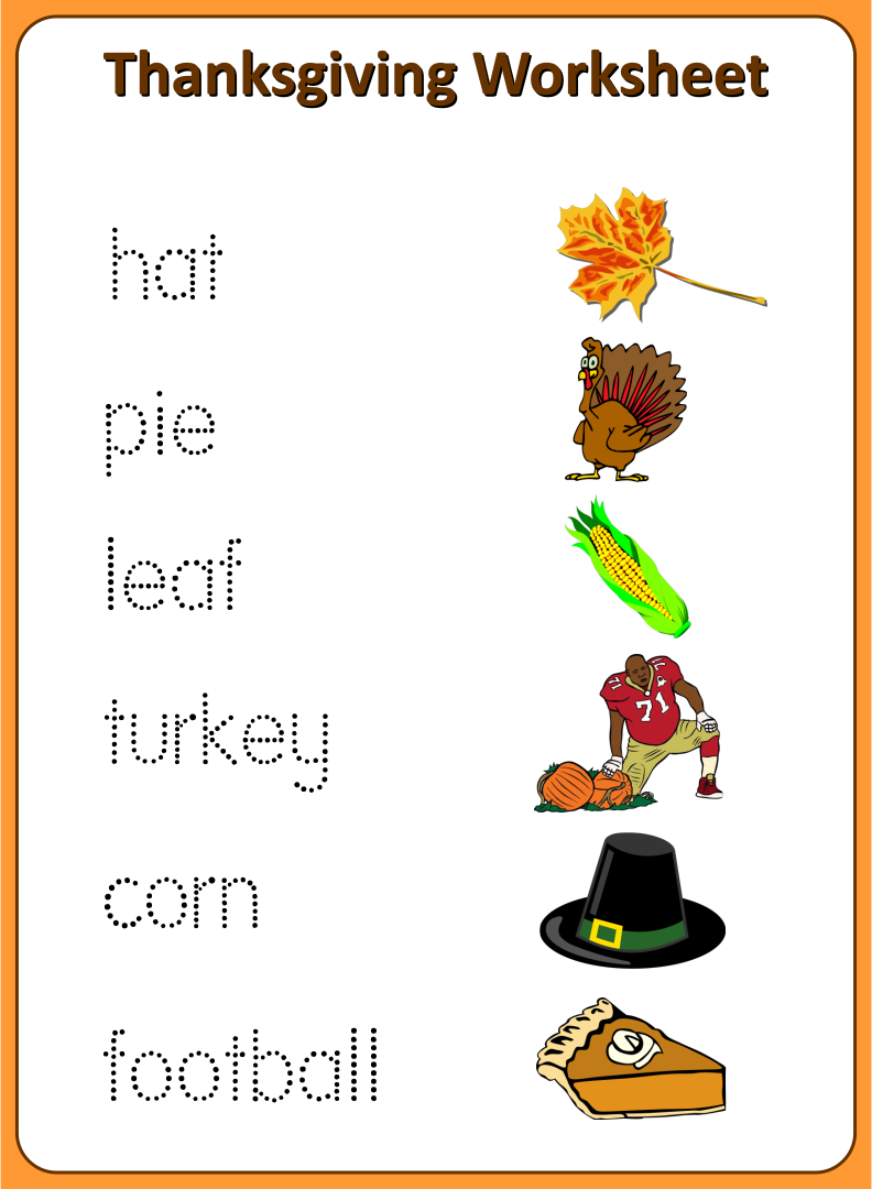 8 Best Images of Preschool Printables Thanksgiving Worksheets ...