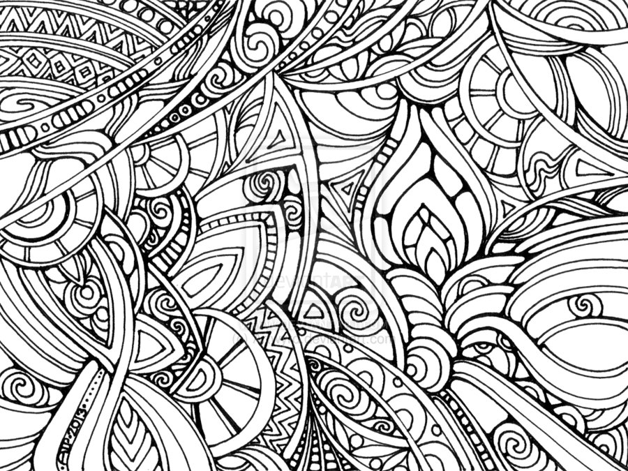 7 Images of Free Printable Psychedelic Coloring Pages