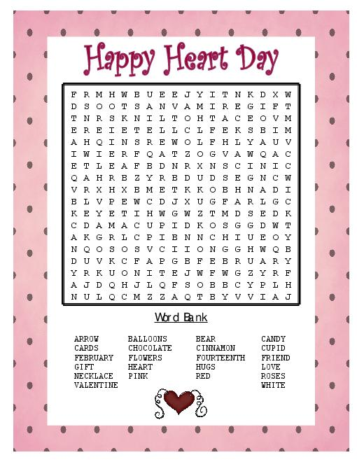 6 Images of Cross Word Puzzle Printable Valentine Day
