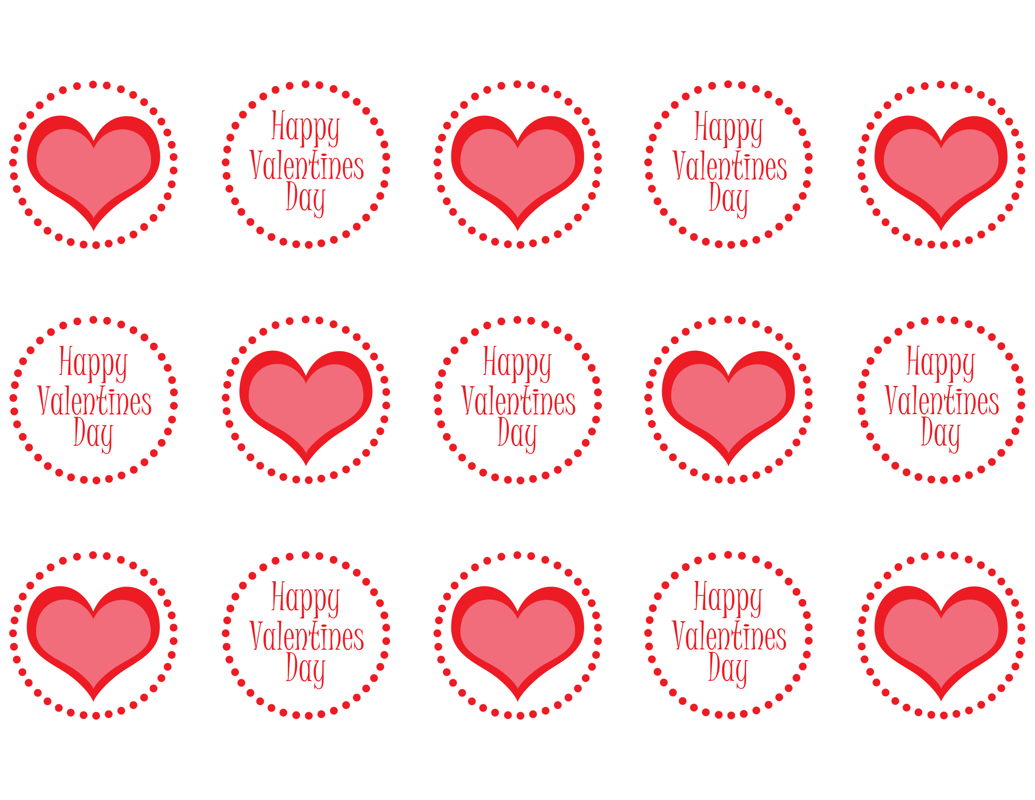 4 Images of Free Valentine's Printable Cupcake Toppers
