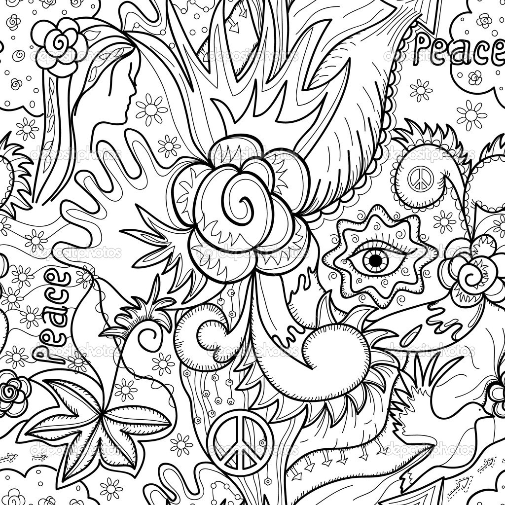 4 Images of Printable Abstract Coloring Pages