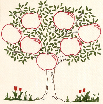 5 Images of Apple Tree Template Printable
