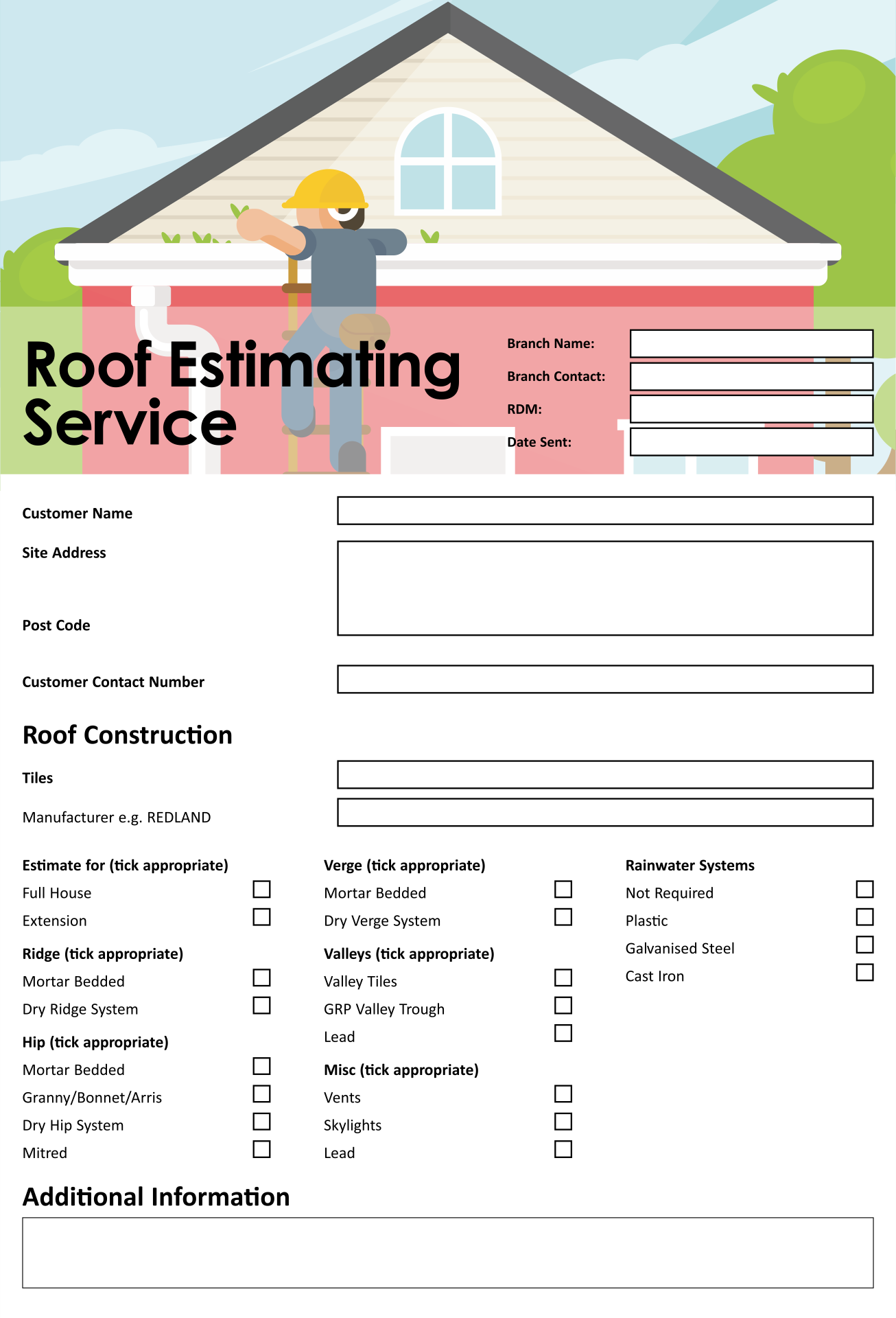9 Images of Roofing Estimate Templates Printable