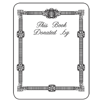 6 best images of bookplates printable donated free for Free printable bookplates templates
