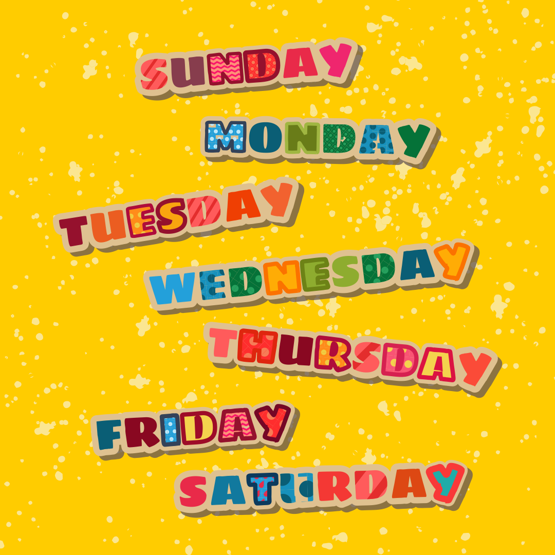 Chart with Days of the Week