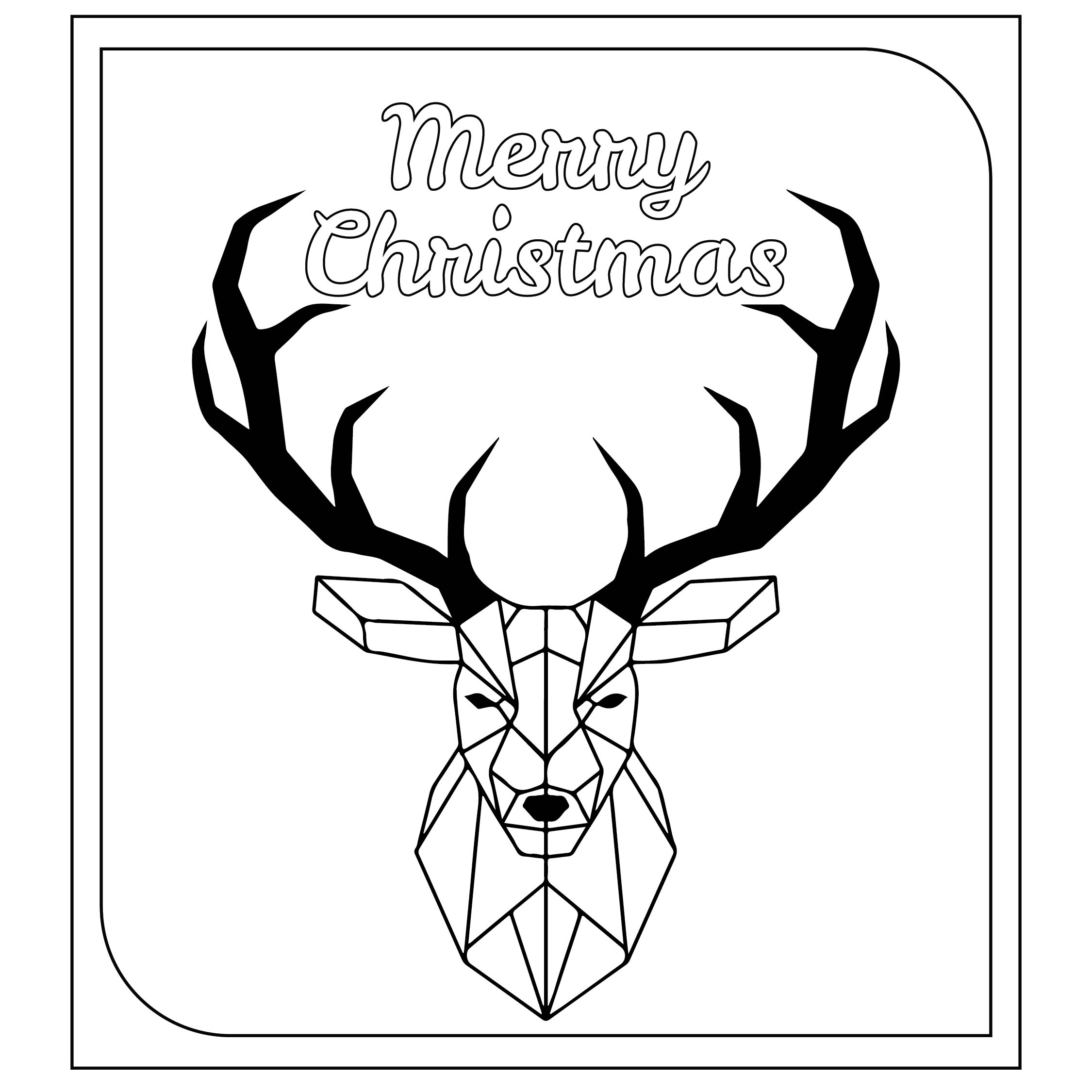 Christmas Card Coloring Template