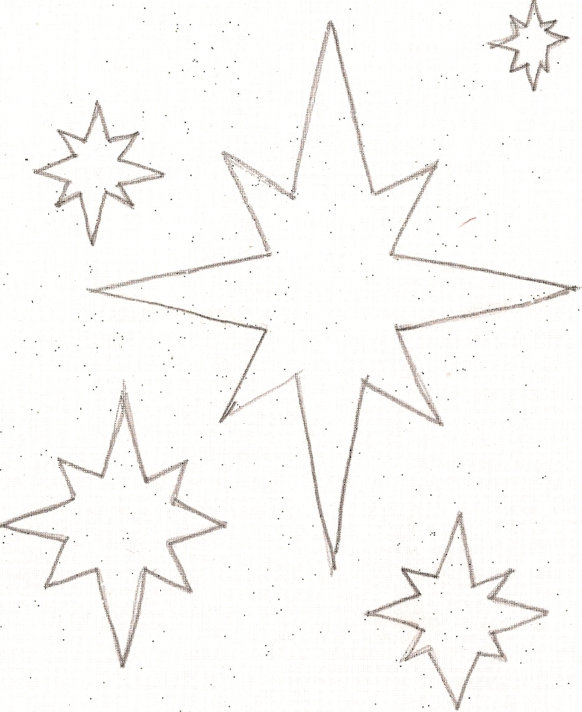 5 best images of little stars printable small star cut for Small star template printable free